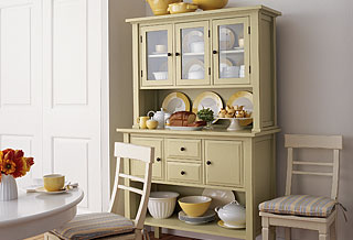 Carson Buffet Hutch And Chair Produced For Crate Barrel